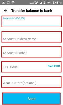 Bank Account Details