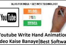 write hand animation video
