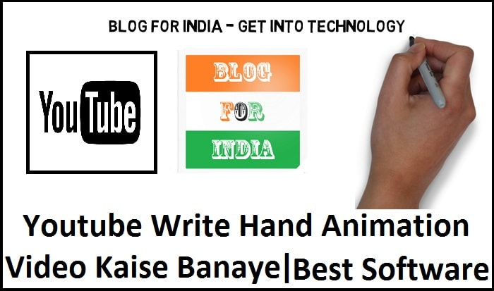 writing hand youtube animation video