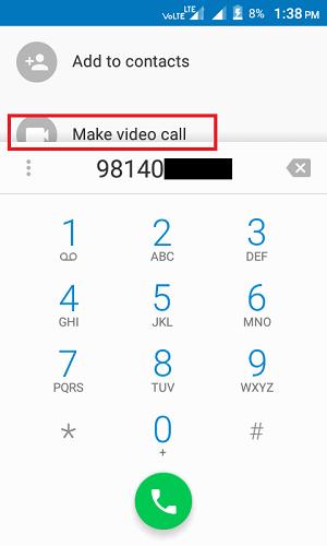 make video call