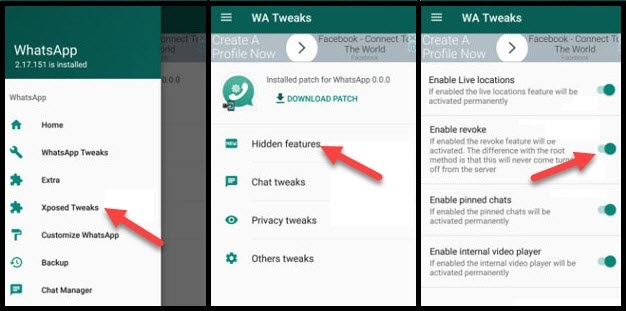 whatsapp tweak setting