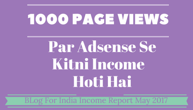 1000 Page views Se Kitni Income Hoti Hai