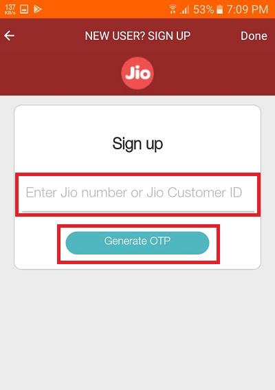 jiotv sign up