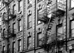 emergency exit at West village in New York City