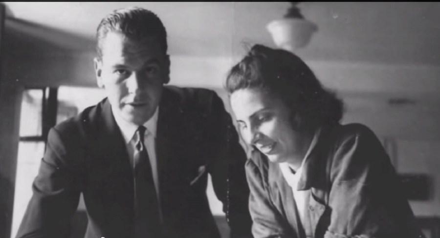 Amancio Williams y su esposa, también arquitecta Delfina Gálvez