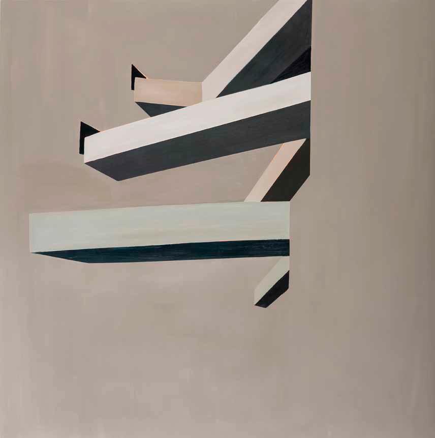 Sin título (Sesc Pompeia II) . Óleo sobre tela . 150 x 150 cm . 2019. Luciana Levinton