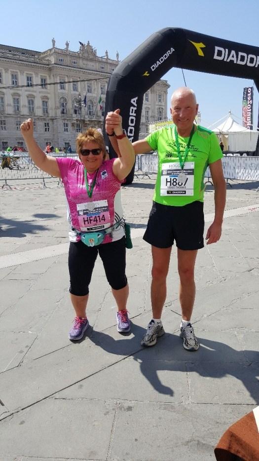 Vi klarte Trieste halvmaraton2016 begge to