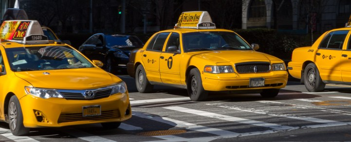 Överallt, de gula dårarna, Yellow cab of New York