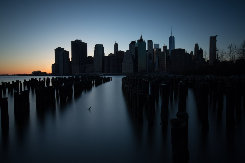 Lower Manhattan, New York. Helt oredigerad version