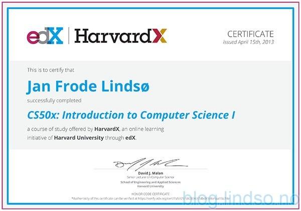 Nettstudier på HarvardX