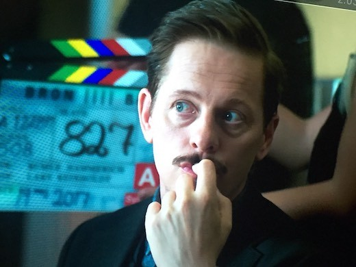 """Thure Lindhardt during the filming of """"bridge"""" season four premiering January 1, 2018 on SVT."""