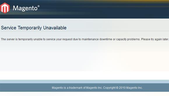 Magento passer un site en mode maintenance  Admin