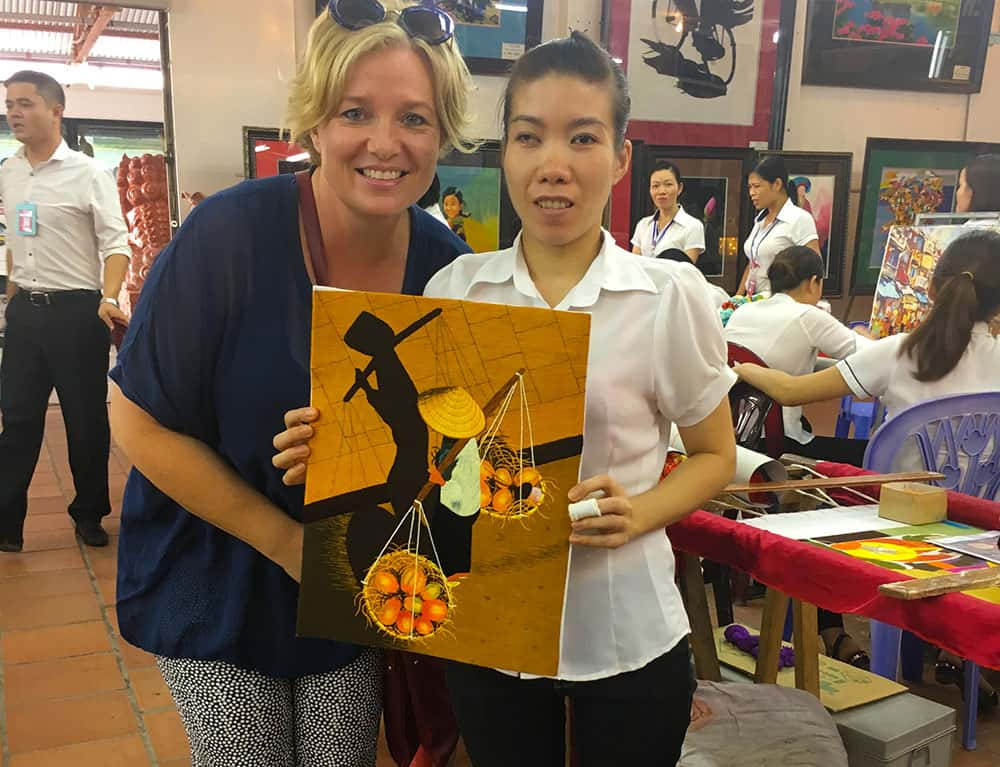 Embroidered picture in Vietnam
