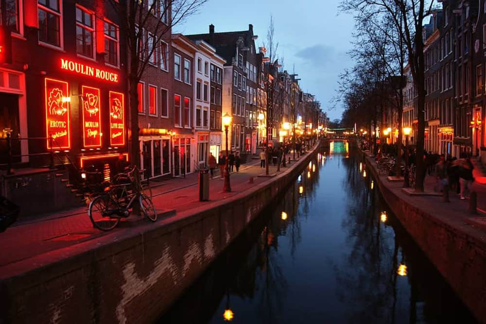 Amsterdam's famous Red Light District