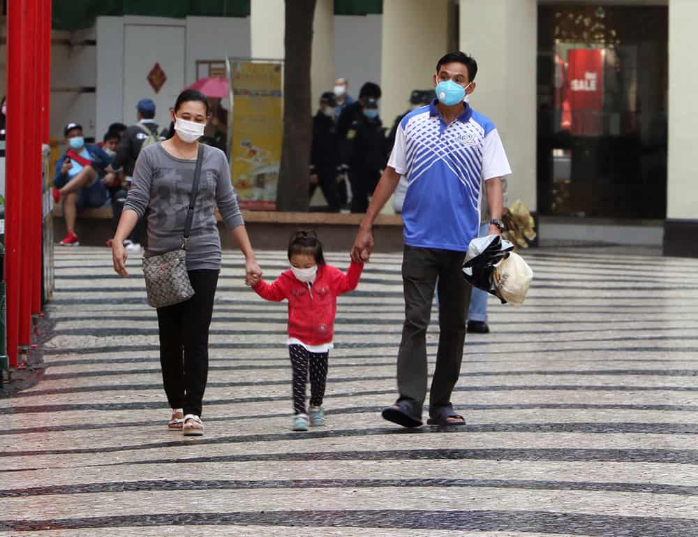 Wearing masks in Macau
