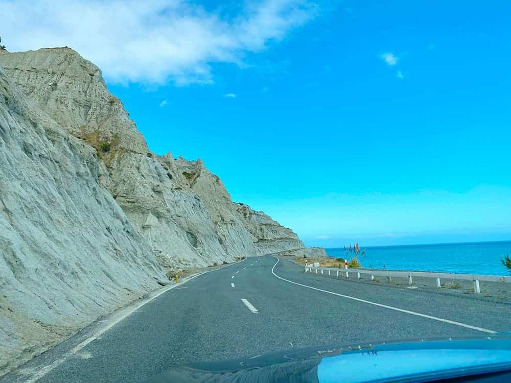 The coastal road to Cape Palliser