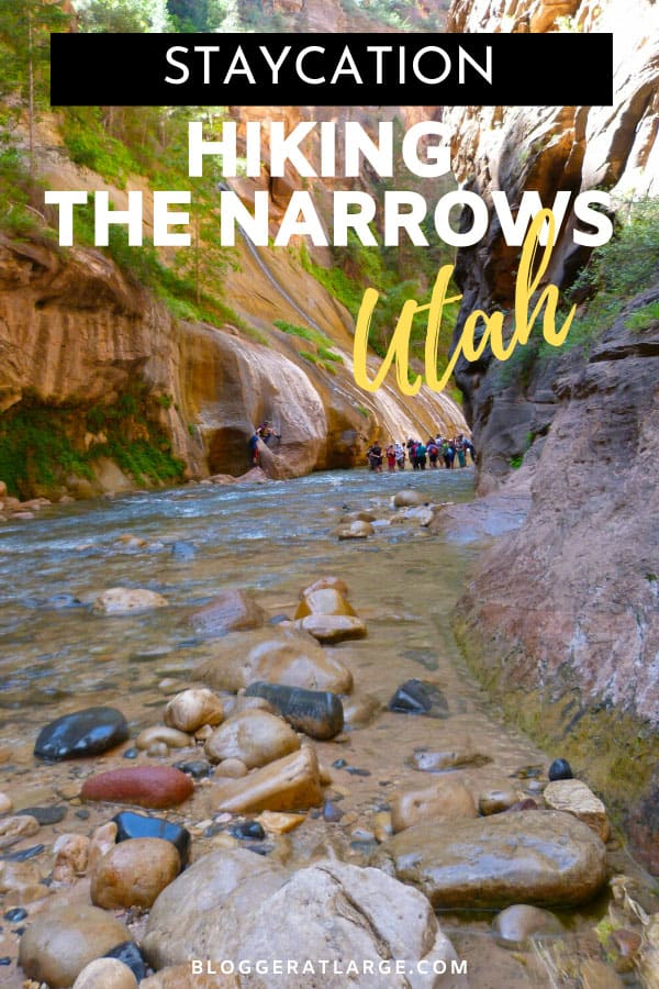 Hiking the Narrows in Zion Utah pin