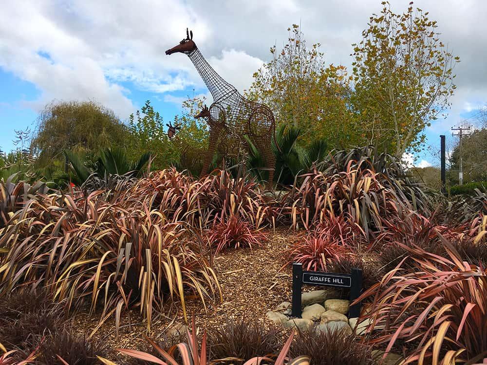 giraffe hill at the Sculptureum