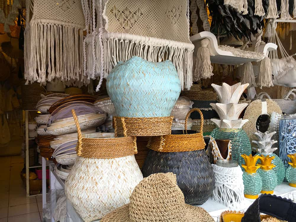 baskets in bali