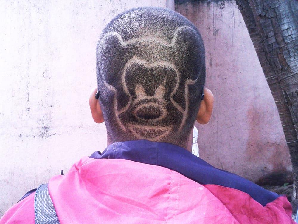 Mickey mouse hair cut