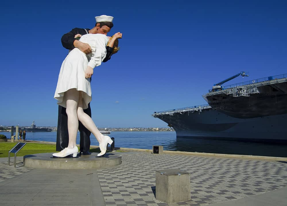 Kiss Statue at USS Midway