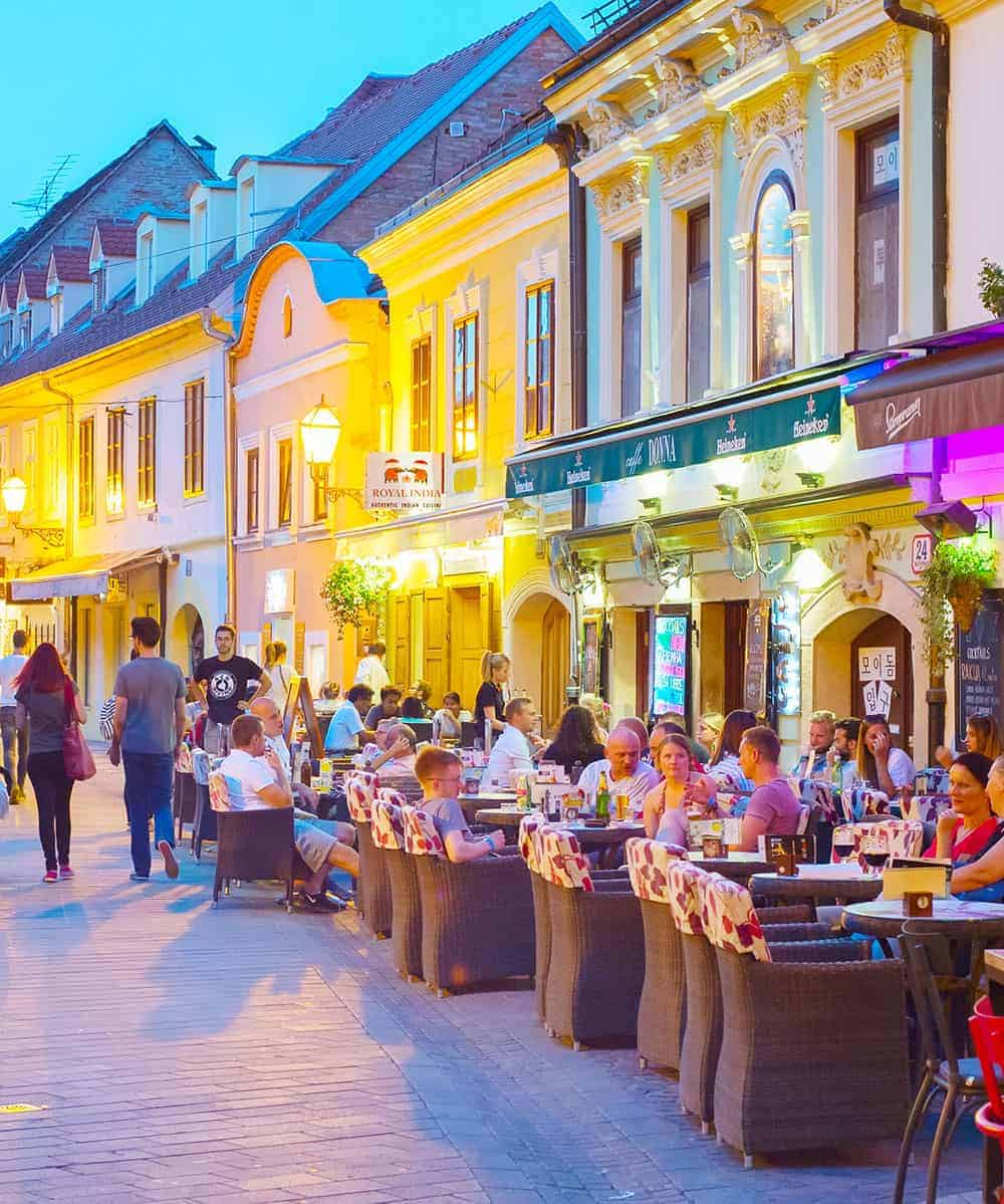 Dining out on Ivana Racica Street, Zagreb