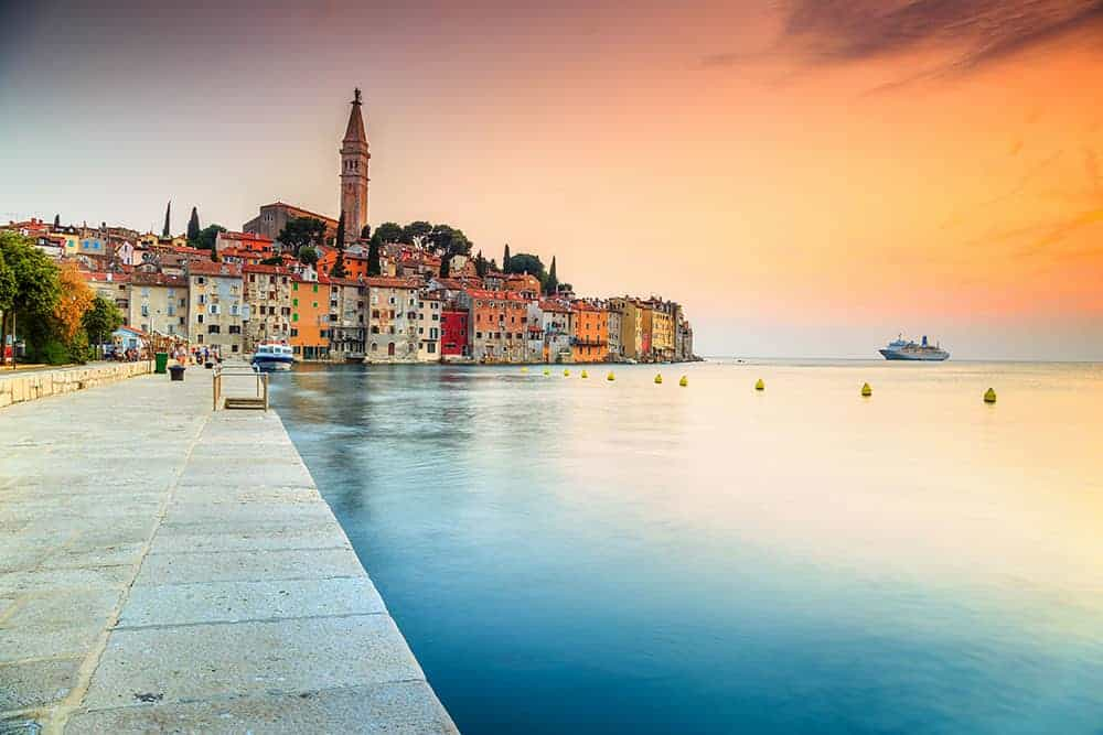 Rovinj on the Istrian Peninsula, Croatia