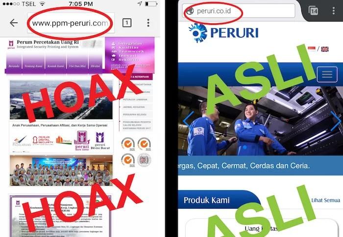 Info Hoax Lowongan Kerja BUMN PERUM PERURI Terbaru