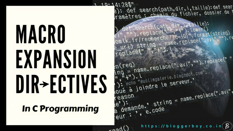 Macro Expansion Directives In C Preprocessor