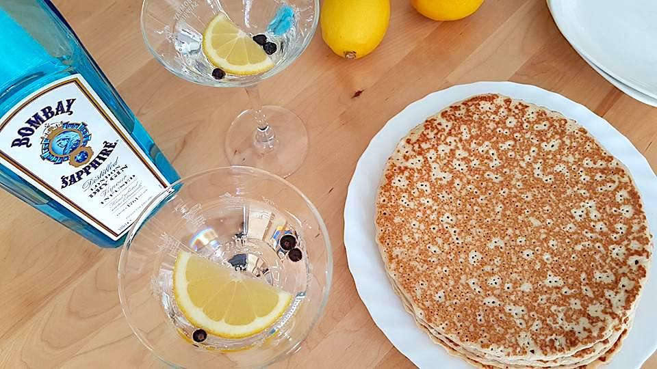 Gin & lemon pancake glaze