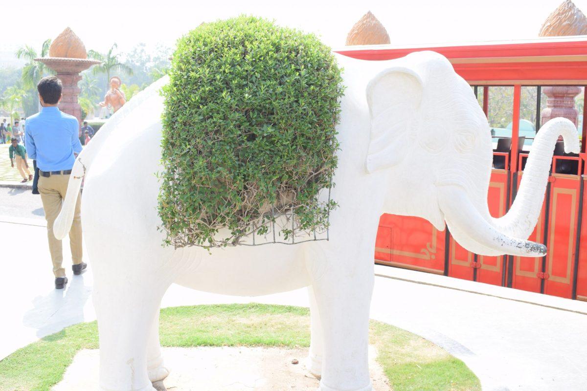 white elephant statue in ramoji FC