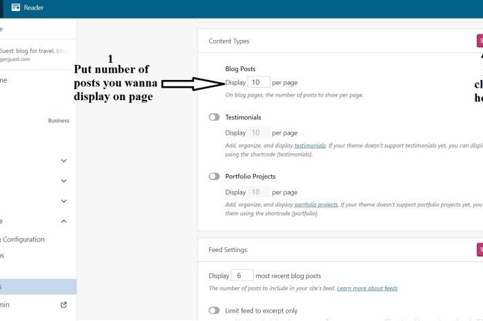 change number of posts per page/homepage wordpress blog.