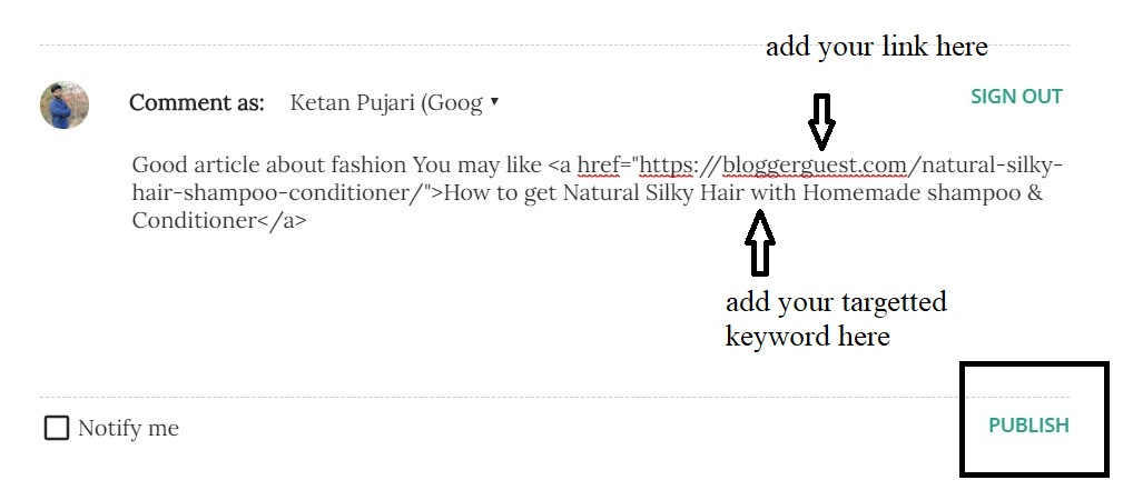 How to comment on other blogs with Link to get Quality backlink?