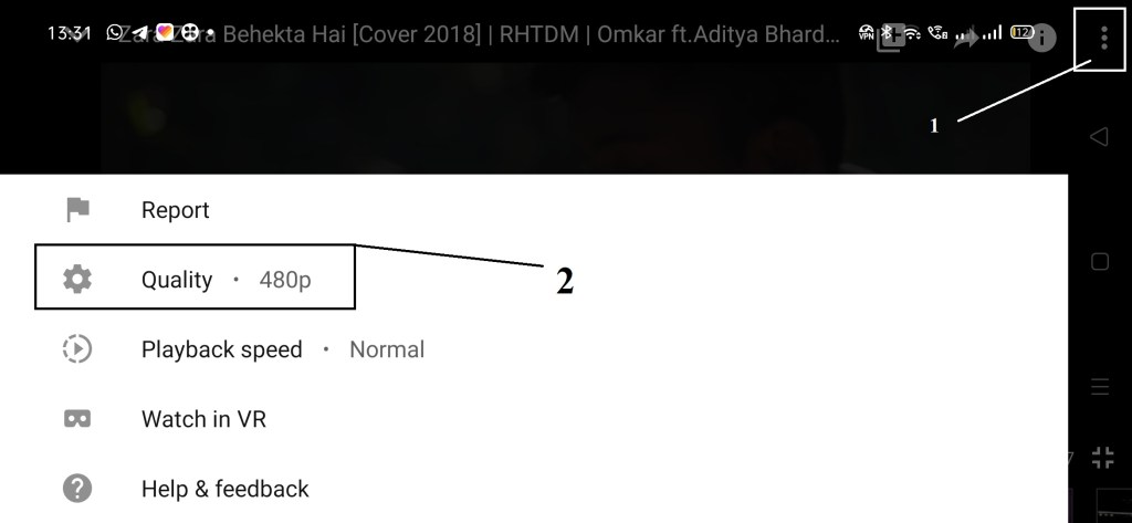 how to play hd videos on youtube app 480p?