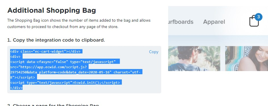additional shopping bag How to create online store in Blogger free?