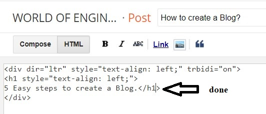 how to create a blog post 3 How to add H1 tag in blogger Post Easy guide?