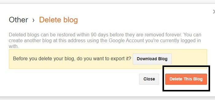 How to Recover deleted Blog/Delete Permanently blogger?