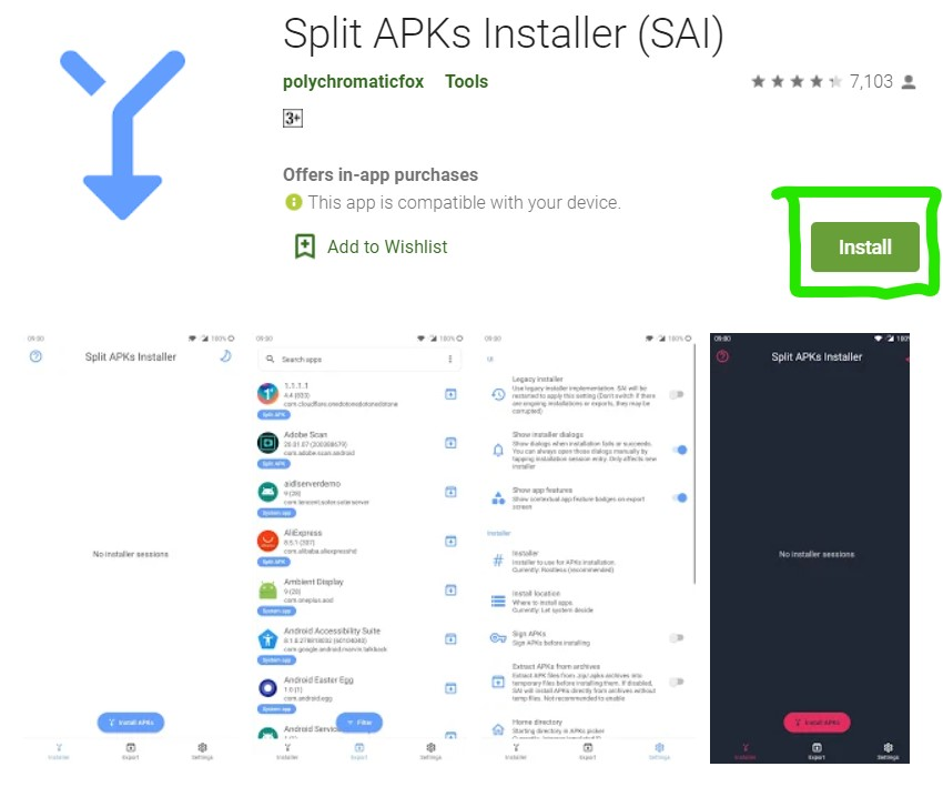 SAI - Split apk installer for Yotube premium free of cost all the time