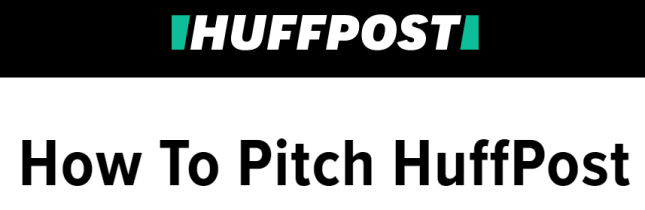 Submit your Pitch guest post to HuffPost