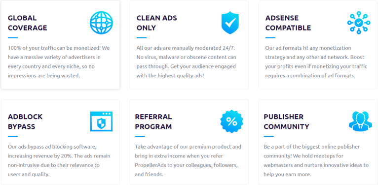 Propeller Ads review for publishers/Bloggers