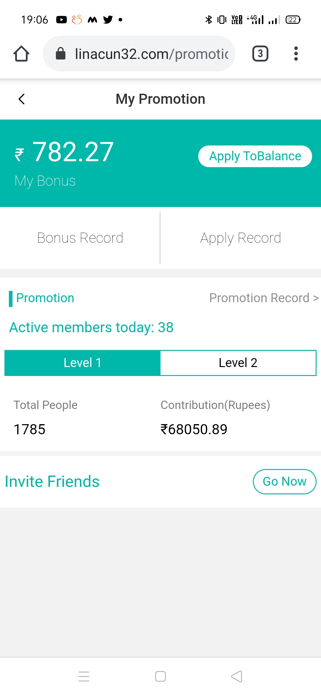Screenshot 2021 06 07 19 06 32 21 Best Color Prediction game to earn money online - Linacun32
