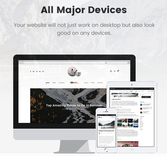 AkeaReview — The Best blog theme for Minimalist Style