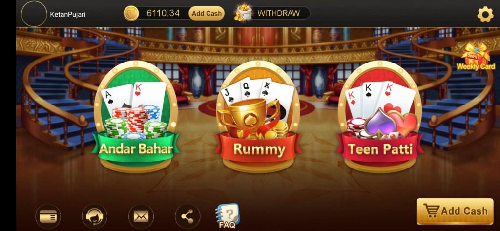 Andar bahar real cash game online