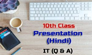 10th Class Presentation Hindi