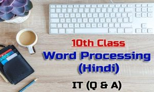 10th Class Word Processing Hindi