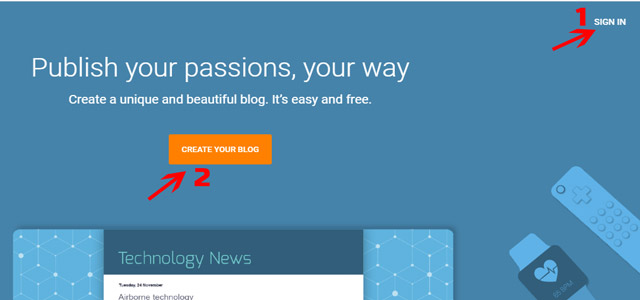 Create Free Blog in Blogger