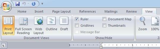 views - word processing