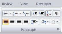 Alignment - Word processing