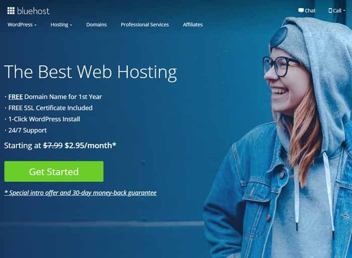 Bluehost -Web hosting plans 2020