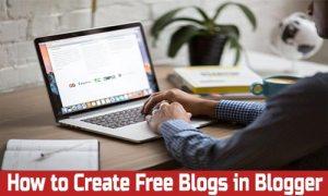 Free Blog or website in Blogger 2020